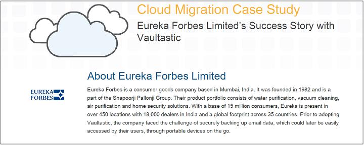Eureka Forbes Case Study